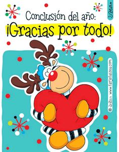 Gracias de todo corazón-Cebra Ele abrazando un corazón © ZEA www.tarjetaszea.com Christmas Quotes, Christmas Images, Christmas And New Year, Vintage Christmas, Christmas Holidays, Merry Christmas, Xmas, Happy B Day, Happy New Year