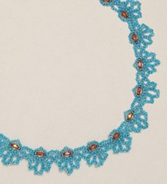 """Free Bead Patterns and Ideas by Sandra D Halpenny : Preview """"Blue Loops Necklace - Free Pattern"""""""