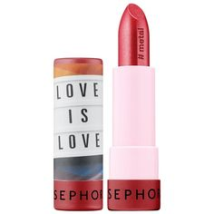 Shop Sephora Collection's PRIDE at Sephora. A limited-edition lipstick celebrating PRIDE in exclusive Love is Love packaging. Sephora Lipstick, Lipsticks, Beauty Nails, Beauty Makeup, Stonewall Riots, Lip Care, Lip Gloss, The Balm, Pride