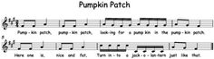 "Music a la Abbott: ""Pumpkin Patch"" tika-tika melody with singing game. My 3rd graders are going to love this!"