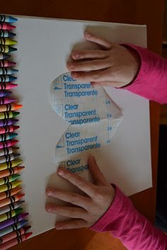Crayon Canvas - great idea with contact paper and acrylic paint. kids can make their own artwork after i add the decals and choose the colors for them to use