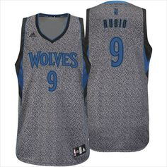 Mens Minnesota Timberwolves Ricky Rubio 9 All-Over Static Basketball NBA Jersey on eBid United States