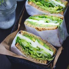 Green Goddess Sandwiches Made by @the bojon gourmet Green Goddess Mayonnaise (makes enough for 4-6 sandwiches): 1/3 cup packed basil leaves 1/3 cup packed tarragon leaves 1/3 cup packed chopped chives 2 medium-large garlic cloves 2 anchovy fillets zest and juice of 1/2 a lemon 1/4 teaspoon salt 1/2 cup good mayonnaise (such as Spectrum's olive oil mayonnaise) Pickled spring onions (makes enough for 4-6 sandwiches): 2 spring onions, bulb thinly sliced 1/2 cup white wine vinegar 2 teaspoons…