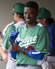 3/17: SS Dee Gordon and the Dodgers celebrated St. Patty's Day with split squad games against the Rockies and Giants