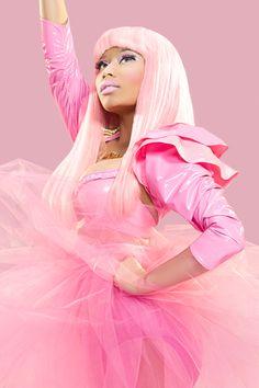 Nicki Minaj. Self confessed beautiful, black bimbo Barbie barbie.