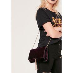 Missguided Croc Velvet Tassel Trim Clutch Bag ($34) ❤ liked on Polyvore featuring bags, handbags, clutches, purple, crocodile embossed handbags, lips pursed, crocodile handbags, croco embossed handbags and croco handbag
