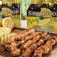 Jamaican Jerk chicken marinated in Shock Top Lemon Shandy