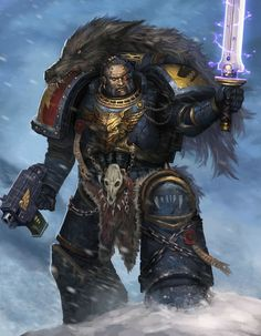Space Marine - Warhammer 40k - Adeptus Astartes - Space Wolves - Power Sword