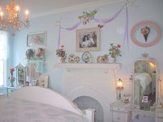 *・゜*:fairynests:*゜・* love the ribbon shabby chic frames
