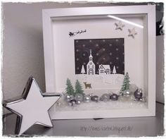 Excellent Photo shilouette christmas Ideas 'Ienc in which season once again! This specific Xmas, most people strive to be not just your ticketing partner. Christmas Box Frames, Christmas Shadow Boxes, 3d Christmas, Christmas Cards, Christmas Decorations, Christmas Ideas, Frame Crafts, Stamping Up, Craft Fairs