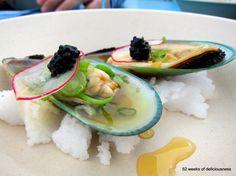 Ravintola Gaijin: Green mussels in yuzu / Taste of Helsinki 2013