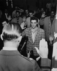 Elvis Presley swears in.