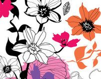 Surface design florals - La Primavera by Ella Tjader, via Behance