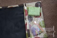chalk mat with pockets for chalk + sponge