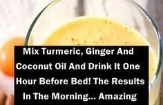 Ingredients: ~2 cups coconut milk ~1 tbsp. coconut oil ~1inch piece of ginger sliced ~1 tsp. turmeric ~1 tbsp. organic raw honey ~¼ tsp. pepper  Instructions: In a bowl, add all ingredients, except for honey. Mix them well, transfer mixture to a saucepan & place it over low heat. Cook for 5 minutes,  add the honey at the end. This delicious & healthy drink soothes the stomach, enhances digestion, prevents acid reflux, helps you sleep & aids in weight loss. cleanstronghealthy.com