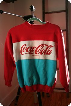 Not usually a fan of sweatshirts but this vintage Coca-Cola Sweatshirt is too cool to be missed. It's a shame Coca-Cola doesn't make these anymore because these are pretty rare. Someone hit me up if they see one on sale!