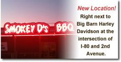 Smokey D's BBQ | Des Moines, Iowa..2nd Ave exit at intersection of I-80 and 2nd Ave. Next to Big Barn Harley Davidson