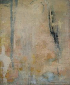 """Connie K. Sales, """"There, Mary"""", acrylic, pastel, charcoal, graphite on canvas"""