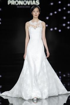 Pong Lee in Nube dress made of lace and tulle.