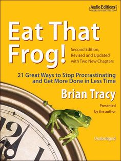 December 30. Eat That Frog by Brian Tracy. Practical and loaded with help to become far more productive and satisfied in life and work.