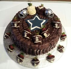Dallas Cowboy Grooms Cake More Party Ideas Sports