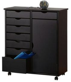 Use for closet organization - Stanton 7 + 1 Drawer Double-Wide Storage Cart with Door