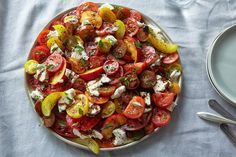 This is pretty much the most perfect summer salad of all time! Tomato, Nectarine and Mozzarella Salad recipe on Food52