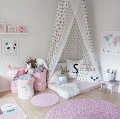 Mädchen-Zimmer Girl Rooms, Kid Bedrooms, Kids Bedroom Diy Girls, Little Girl Bedrooms, Baby Bedroom, Master Bedroom, Trendy Bedroom, Girls Room Design, Bedroom Decor