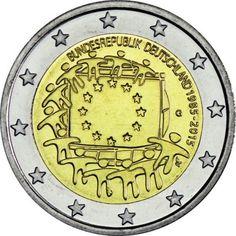 2 Euro CuNi Europaflagge G UN
