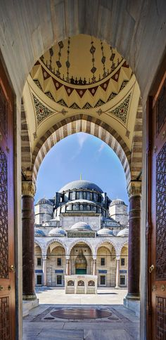 Famous Gate to Court Yard of Suleymaniye Mosque, Istanbul, Turkey      Top 11 Reasons to Visit Istanbul