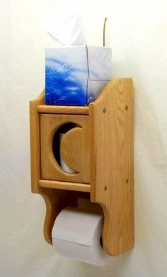 love it! toilet paper holder + tissue shelf