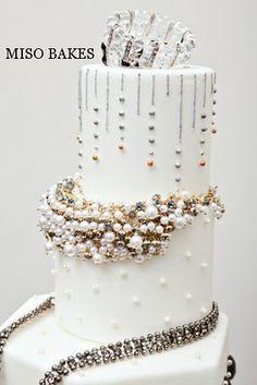 Miso Bakes Hollywood Glam Cake