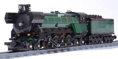 25 Lego Trains Ideas – How to build it Lego City Train, Lego Trains, Lego Boards, Lego Mechs, Lego Modular, Cool Lego Creations, Lego Architecture, Rolling Stock, Lego Technic