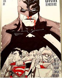 Starting off this week's Dark Knight Art Tuesday showcase with this awesome sketch cover illustration by @bowl_of_rice26. I really like this one. #batman #darkknight #darkknightreturns #DKR #DKart #art #artwork #drawing #illustration #comicart #robin #carriekelley #batmanandrobin #joker #superman #frankmiller #FM #thebatman #thedarkknight #thedarkknightreturns #thebatforce #cultofthebatman by devilzsmile.com #devilzsmile