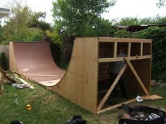 so i 39 m going to put a half pipe in my backyard