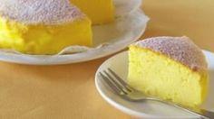 TORTA GIAPPONESE:tre uova, 120 grammi di cioccolato bianco e 120 grammi di crema al formaggio