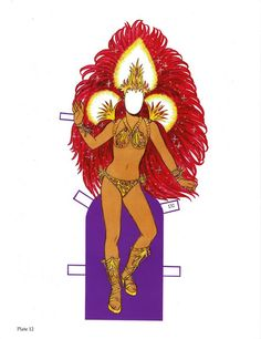Carnaval Paper Doll with Glitter by Tom Tierney - recipepartys@Y colorsnumbersabc - Picasa Webalbum