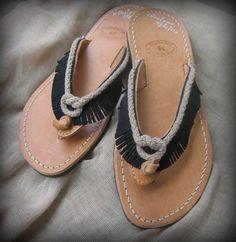 Bohemian leather sandals KassandraGreek leather by OneironPraxis