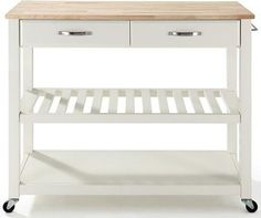 Kitchen Cart with Optional Stool Storage - traditional - kitchen islands and kitchen carts - by Home Decorators Collection