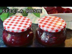 SFECLA ROSIE la borcan - Reteta ideala pemtru iarna - Muraturi la borcan | Larisa Chereches - YouTube Pickles, Salsa, Pudding, Jar, Rose, Cooking, Youtube, Desserts, Blog
