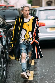 Grunge style in London during LCM