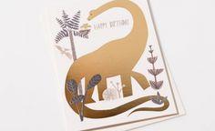 Dinosaur Birthday | Red Cap Cards #illustration #redcapcards #christianrobinson #gold #foil Living In San Francisco, San Francisco California, Christian Robinson, Dinosaur Birthday, Childrens Books, Stationery, Illustration, Happy, Artist