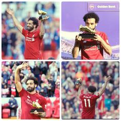 - Egypt international Mohamed Salah has been crowned this season's Premier League top scorer - The 25-year-old ser a new record of 32 goals in a season after scoring in Liverpool's 4-0 win over Brighton - He beats Spurs Harry Kane to the prestigious award