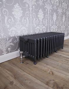 The Victorian 9 column radiator has an impressive BTU output and vintage charm. Cast Iron Bath, Cast Iron Stove, Cast Iron Fireplace, Stove Fireplace, Steam Radiators, Column Radiators, Cast Iron Radiators, Victorian Radiators, Copper Bath