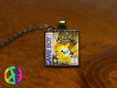 Pokemon Game Boy Pikachu Anime Cosplay Video Game Gamer Necklace Pendant Jewelry