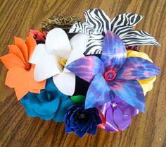 Custom duck tape bouquet.