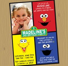 Sesame Street Birthday Printable