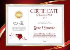 School Certificate, Certificate Of Achievement, Award Certificates, Award Template, Certificate Design Template, Floral Style, Floral Design, Vintage Designs, Retro Vintage