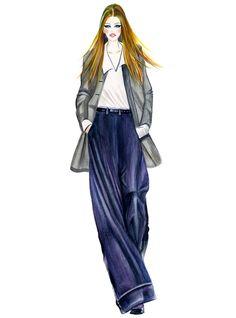 office lady-illustration by Sunny Gu #fashion #illustration #fashionillustration