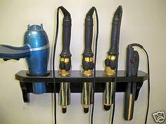5-Hole Hair Blow Dryer, Curling Iron, Flat Iron Holder